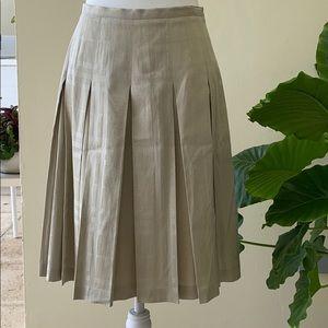 Burberry Tartan Flat-Pleat Skirt